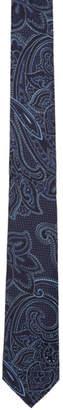 Etro Blue Silk Jacquard Paisley Tie