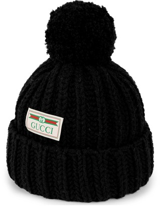 Gucci Wool hat with jacquard label