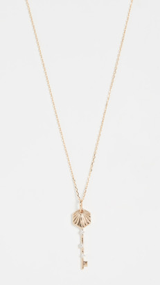 Adina 14k Small Hexagon Key Necklace