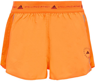 adidas by Stella McCartney Mesh-paneled Shell Shorts