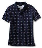Classic Women's Petite Pima Polo Shirt-White Multi Stripe