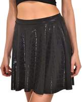 AISKLY Fish Scales Skirts Women Casual Cute Above Knee Mini Flared Skater skirt