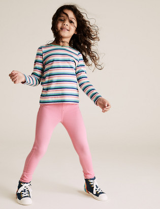 Marks and Spencer Cotton Denim Jeggings (2-7 Yrs)
