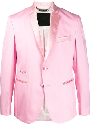 Philipp Plein Satin Trim Blazer