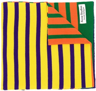 Acne Studios x Jacob Dahlgren colour-block striped scarf
