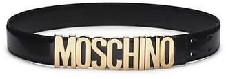 Moschino Logo Patent Leather Belt