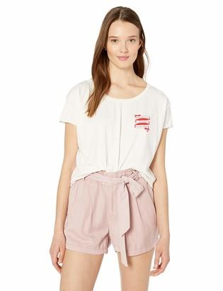 Roxy Women's Le Fun in Le Sun Cropped Boyfriend T-Shirt