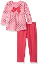 Bon Bebe Girls' 2 Piece Top with Rear Snap Neck Opening and Legging Set