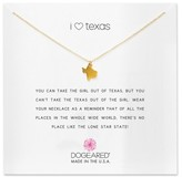 Dogeared Women's I Heart Texas Pendant Necklace