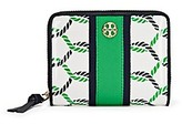 Tory Burch Printed Patent Zip Coin Wallet