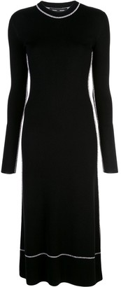 Proenza Schouler Long Sleeve Crew Neck Dress