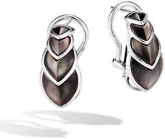 John Hardy Legends Naga Mother-of-Pearl Huggie Hoop Earrings