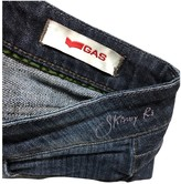 Gas Jeans Blue Cotton - elasthane Jeans for Women