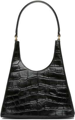 STAUD Black Croc Rey Bag
