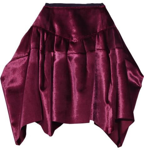 Marc Jacobs Velvet draped skirt