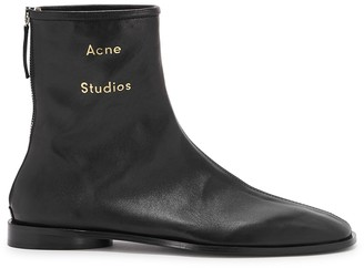 Acne Studios Black leather ankle boots