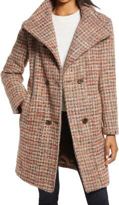 Ellen Tracy Double Breasted Wool Blend Coat