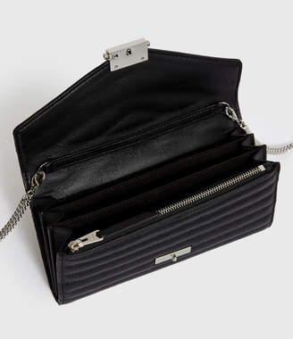 AllSaints Justine Chain Leather Wallet