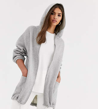 Micha Lounge oversized hoodie with toggle detail-Grey