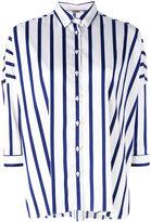 Fay lightweight striped shirt - women - Cotton/Polyamide/Spandex/Elastane - M