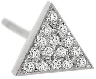 Jennifer Meyer Mini Diamond Triangle Single Stud Earring - White Gold