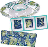 Certified International 3 Piece Tropicana Chip & Dip/Relish/ Rectangular Platter