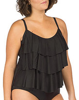 Kenneth Cole Reaction Plus The Ruffle Shuffle Tiered Tankini