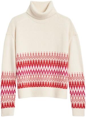 Banana Republic Fair Isle Turtleneck Sweater