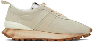 Lanvin Beige Suede Bumper Sneakers
