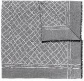 Emporio Armani woven jacquard scarf