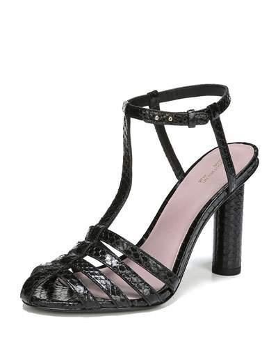 Diane von Furstenberg Eva Caged Snakeskin Sandal