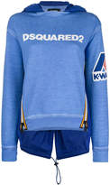 DSQUARED2 logo patch hooded sweatshirt