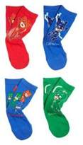 F&F Entertainment One 4 Pair Pack of PJ Masks Socks, Kids Unisex