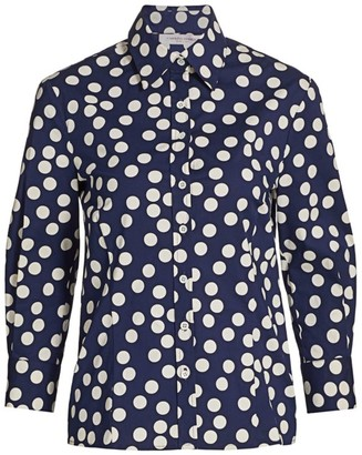Carolina Herrera Classic Polka Dot Button-Down Shirt