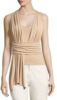 Maison Margiela Sleeveless Wrap Top, Nude