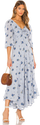 Free People Sea Glass Midi Dress