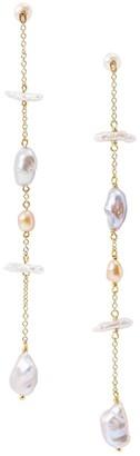 Chan Luu 3.5MM-9MM Grey & Pink Mixed Freshwater Pearl Linear Drop Earrings
