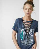 Express desert dreaming lace-up graphic tee