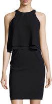 Catherine Malandrino Double Layered Shift Dress, Black