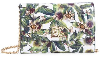 Dolce & Gabbana Millennials In The Woods Leather Wallet-On-Chain