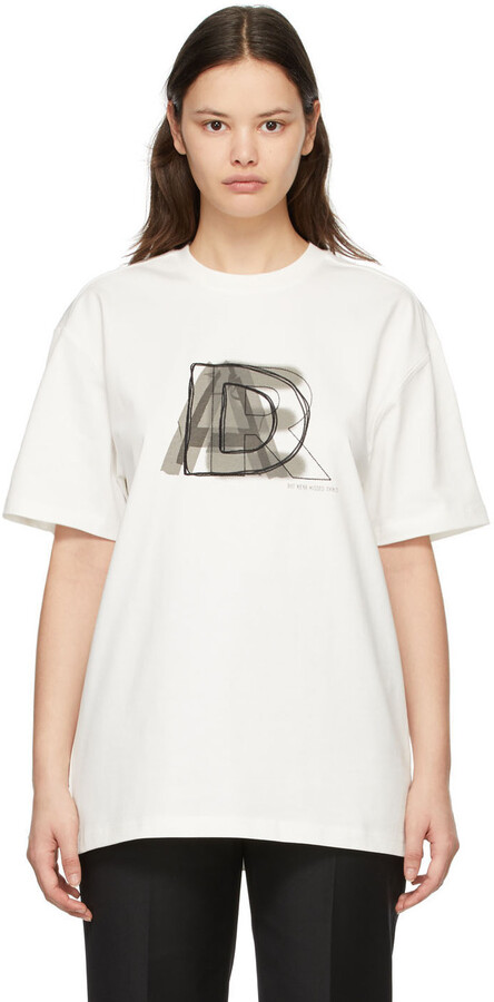 Thumbnail for your product : Ader Error White AE Logo T-Shirt