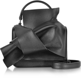 N°21 Black Leather Micro Crossbody Bag w/Iconic Bow On Front
