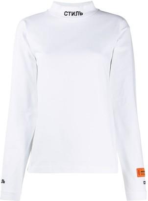Heron Preston Logo Print Collar Sweatshirt