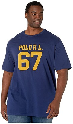 Polo Ralph Lauren Big & Tall Big Tall Classic Fit Graphic T-Shirt (Cruise Navy) Men's Clothing