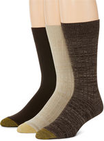 Gold Toe 3-pk. Johnny Rib Crew Socks