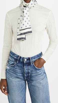 By Any Other Name Turtleneck Scarf Tie Top