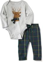 Old Navy Graphic Bodysuit & Plaid Pants 2-Piece Set for Baby