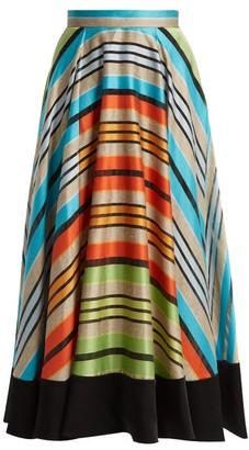 Mary Katrantzou Alice Striped Organza Skirt - Womens - Multi