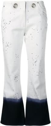 Miaou paint splatter cropped jeans