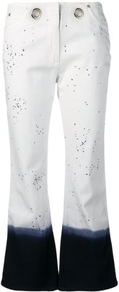Miaou Paint Splatter Cropped Jeans